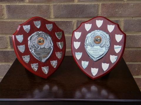 Trophies for internal print and PDI competitions.