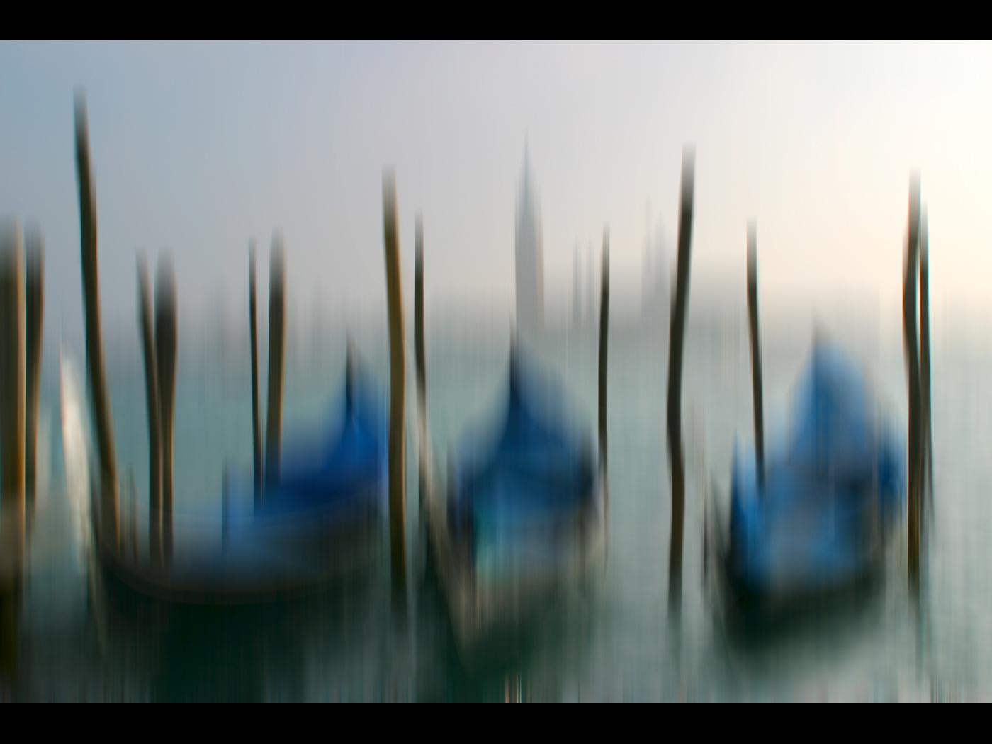 Gondolas in Venice St Marks square